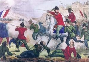 Garibaldi conduce la difesa della Repubblica Romana