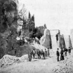 Una foto della Breccia di Porta Pia nel settembre del 1870