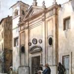S. Lucia della Tinta in un acquarello di A. Pinelli del 1831