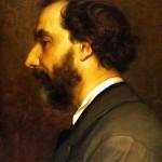 Nino Costa in un ritratto dell'amico pittore Leighton
