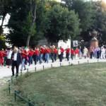 L'arrivo della banda a Villa Pamphilj