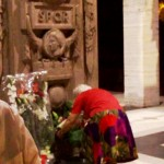 L'omaggio dei fiori all'Ara dei Caduti