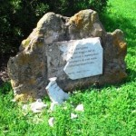 Parte del monumento a Pasolini di Ostia, danneggiato il 31 marzo 2016
